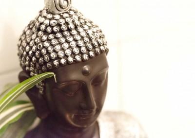 Buddhastatue-Badezimmer